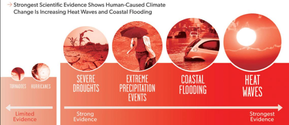 climate change caused by human Ruling out natural variability, scientists say several of 2016's extreme weather events wouldn't have happened without human-caused climate change.